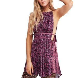 NWT! Free People Mid Summer tunic Purple Size L